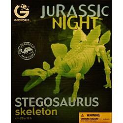 Jurassic Night Glow-in-the-dark Stegosaurus Skeleton