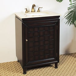Marble Top 24-inch Single Sink Bathroom Vanity