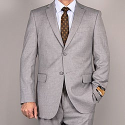 Bertolini Men's Light Gray Wool/ Silk Suit