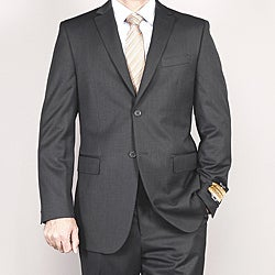 Men's Gray Wool/ Silk Suit