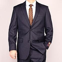 Men's Navy Stripe Suit