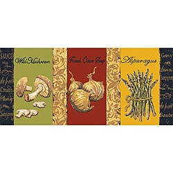 French Veggies Kitchen Accent Rug (1'8 x 3'9)