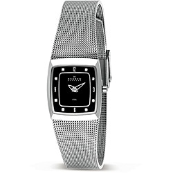 Skagen Women's Black Dial Mesh Band Watch