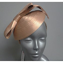 Swan Hat Women's Champagne Satin Ribbon Fascinator Hat