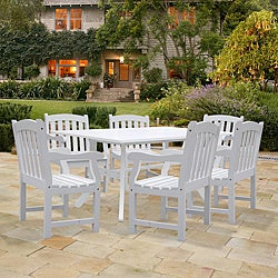 Bradley Rectangular Table and Armchair Outdoor Wood Dining Set