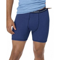Hanes Classics Men's Blue Stretch Boxer Brief (Pack of 4)