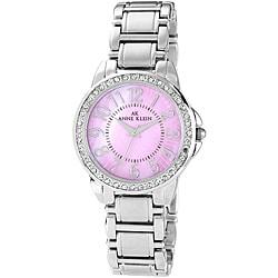 Anne Klein Women's 10-9661PMSV 'Classic' Stainless Steel Watch