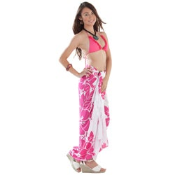 Three Leis Pink/ White Sarong (Indonesia)