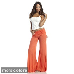 Elan Women&#39;s Rollover Waistband Flair Bottom Pants