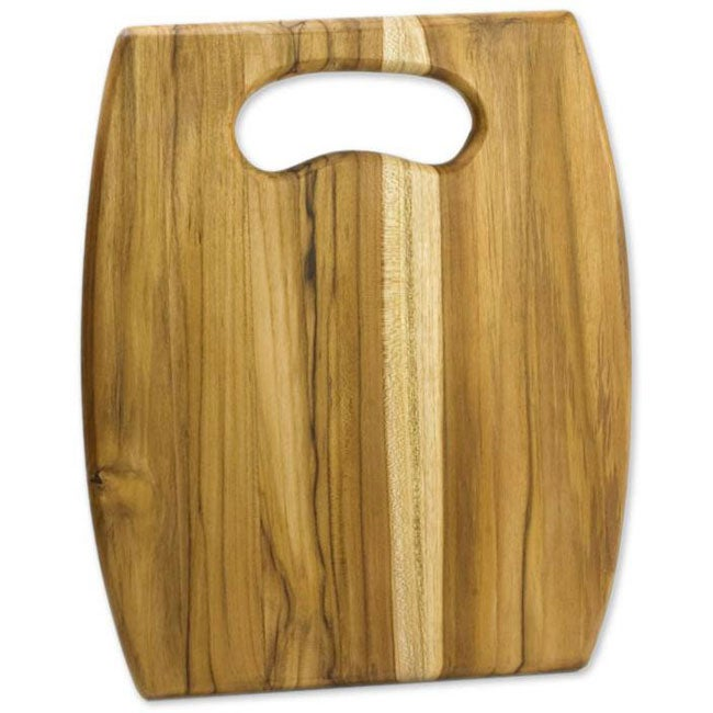 Handcrafted Teakwood 'Wine Barrel' Cutting Board (Guatemala)