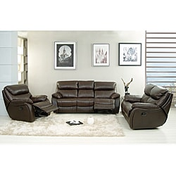 Jonathan Brown Leather Sofa Set