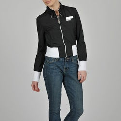 Members Only Women's Nylon Color-Block Bomber Jacket