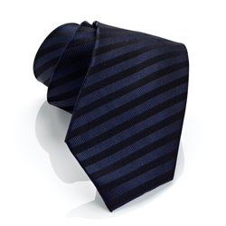 H. Luzzario And Co. Men's Marina Blue Stripe Tie