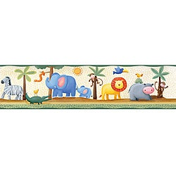 RoomMates Jungle Adventure Peel and Stick Border Decal