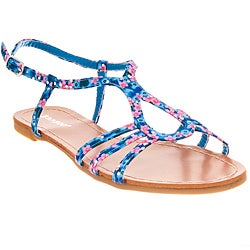 Riverberry Women's 'Maniac' Cobalt Blue Floral Sandals