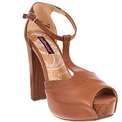 Riverberry Women's 'Curia' Tan Platform Heels