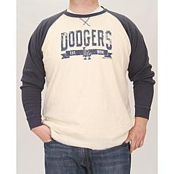 Stitches Men's LA Dodgers Raglan Thermal Shirt