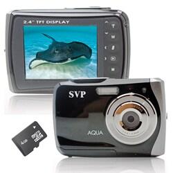 SVP WP6800 18MP Black Waterproof Camera with 4GB Micro SD