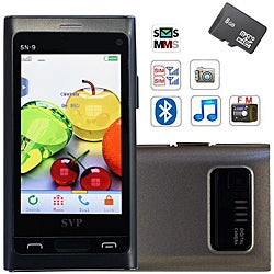 SVP SN-9 Dual SIM Grey Unlocked GSM Cell Phone with 8GB Micro SD