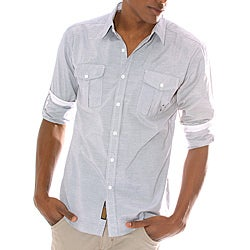 191 Unlimited Men's Grey Woven Shirt