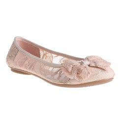 Refresh by Beston Women's 'Pam-08' Pink Lace Ballet Flats