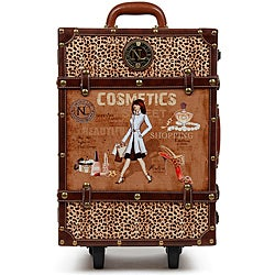 Nicole Lee Abilene Vintage 19-inch Rolling Carry On Upright Suitcase