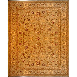 Hand-tufted Bronze/ Brown Wool Rug (5'6 x 8'6)