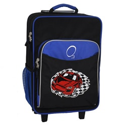 "O3 Kids ""Racecar"" 16-inch Rolling Carry On Cooler Upright"