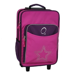 "O3 Kids ""Rhinestone Star"" 16-inch Rolling Carry On Cooler Upright"