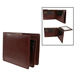 Men's Leather Card Flap Bi-fold Wallet