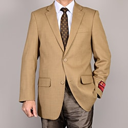 Mantoni Men's Camel 2-Button Wool Sport Coat