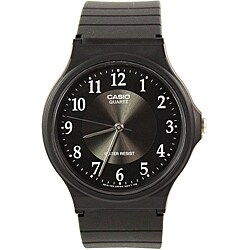 Casio Unisex Ultra Thin WATMQ24BK Black Silicone Sport Watch