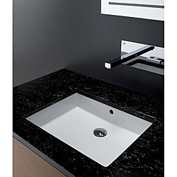 Bissonnet Cubic Ceramic Bathroom Sink 