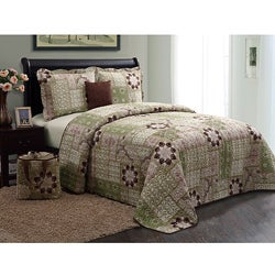 Catalina Green 5-piece Quilt Set