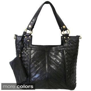 Amerileather 'Hazelle' Leather Shoulder Bag