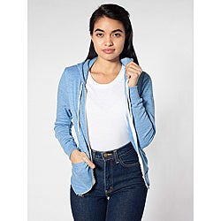 American Apparel Women's Blue Tri-blend Hoodie