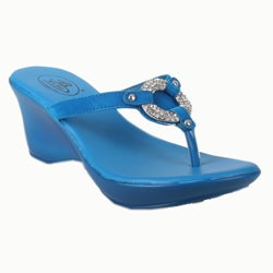 Bolaro by Beston Women's Turquoise Thong Sandals