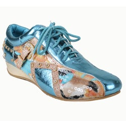 Bolaro by Beston Women's Turquoise Printed Sneakers