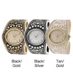 Geneva Platinum Women's Vintage Cuff Watch