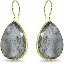 Miadora 22k Goldplated Silver 40ct TGW Rutilated Quartz Earrings