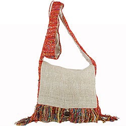 Recyled Silk and Hemp Purse (Nepal)