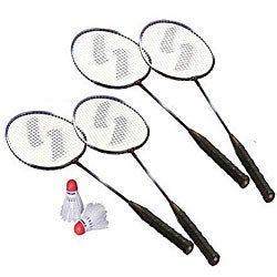 Sportcraft Wood Rubber Plastic Four-player Badminton Racket Set