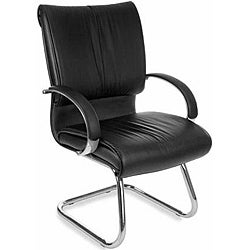 OFM Sharp Series Mid-Back Steel Leather Chair