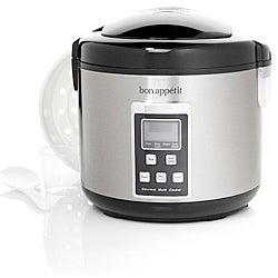 Bon Appetit Digital 10-cup Multi-Cooker with Steamer Basket