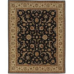 Hand-tufted Black/ Sand Wool Rug (9'6 x 13'6)