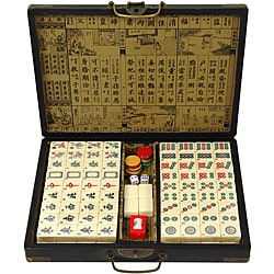 Oriental Home Black Lacquer Mahjong Set Box (China)