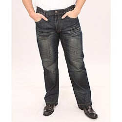 Brooklyn Xpress Men's Straight Leg Dark Wash Jeans