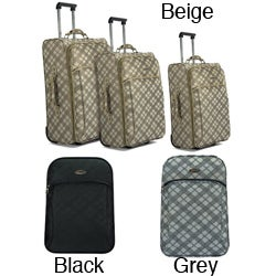 Benzi Polyester Three-piece Expandable Wheeled Trolley Luggage Set