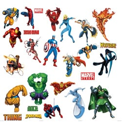 Marvel Heroes RoomMates Peel and Stick Wall Decals