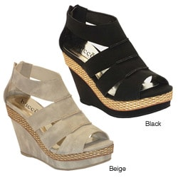 Bucco Women's 'Geisha' Wedge Sandals